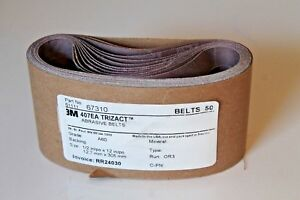 3m 407ea A60 1 2 In X 12 In Trizact Abrasive Cloth Pack Of 50 Belts 51111 67310