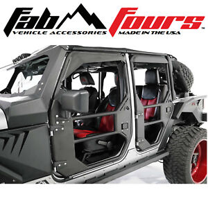 Fab Fours Full Tubular Front Doors Not Locking Handle Fits 2007 2018 Jeep Jk