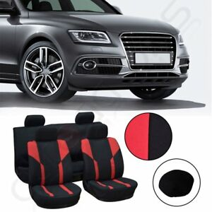 New Red Black Durable Car Seat Covers W Headrest Cover For Porsche