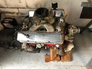 Small Block Chevy Engine 400ci W 350 Turbo Transmission Automatic Engine Trans
