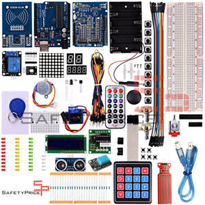 Kit Arduino R3 Xxl Advanced Keyboard Sensors Temperature Ultrasonic Lcd Rfid