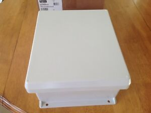 Hoffman Fiberglass Enclosure Hj1210hwpl2lg With Backplate A12p10al Type 4x