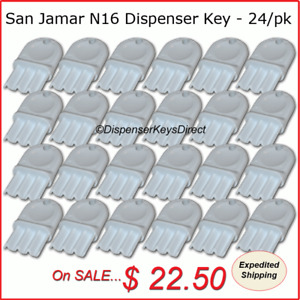San Jamar N16 Dispenser Key 24 piece master Pack