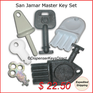 San Jamar Master Key Set For Paper Towel Toilet Tissue Liquid Soap Dispensers