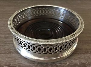 Vintage Silver Plated Wine Coaster Apex