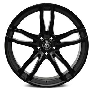 20 Curva C17 Wheels Black Rims Tires Fit Maxima 350z Altima Accord Civic Camry