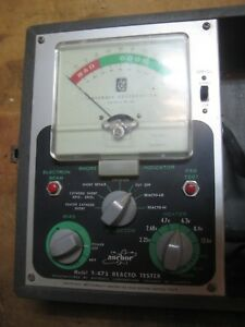 Vintage Anchor Products Reacto tester Model T 475 Tube Tester