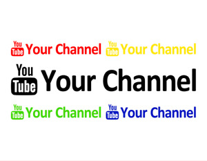 Custom Youtube Channel Name Decal Vinyl Car Window Laptop Wall Handle Sticker