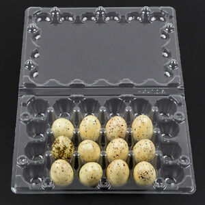 Quail Egg Cartons 50 Pack 24 Holder Two Dozen Each Plastic Container Tray