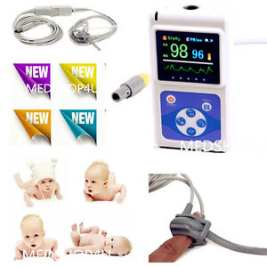 Fda Ce Infant pediatric Fingertip Pulse Oximeter Blood Oxygen Heart Rate Monitor