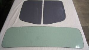 Glass 1936 Chevy Pick Up Low Roof Windshield And Door Glass Set