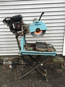 Restored Gas powered Target Stone Cutting Saw