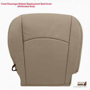 2009 2010 Dodge Ram 1500 Laramie Passenger Bottom Perforated Leather Cover Tan