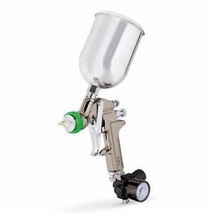 1 5 Mm Nozzle Air Paint Spray Gun Hvlp Pro Gravity Feed W Gauge