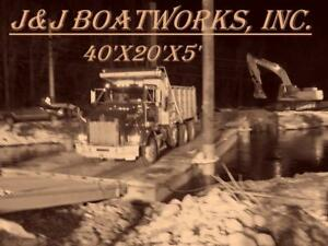 New 40 x20 x5 Sectional Barge Work Barge Dredge Barge