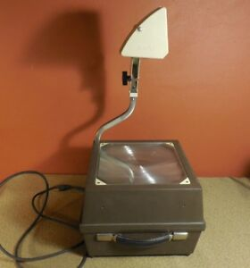 Vintage Buhl Portable Overhead Projector Model 90 14 W Bulb Working