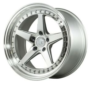 18x9 5 18x10 5 Aodhan Ds05 5x114 3 22 Silver Rims Fits Ford Mustang 350z