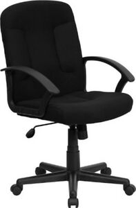 Rolling Work Seat Computer Office Desk Chair Adjustable Height Swivel Black New