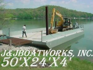 New 50 x24 x4 Sectional Barge truckable Barge Work Floats Dredge