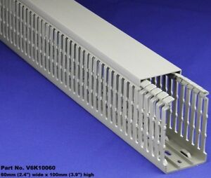 8 Sets Of 2 x4 x2m Gray High Density Premium Wiring Ducts And Covers Ul ce csa