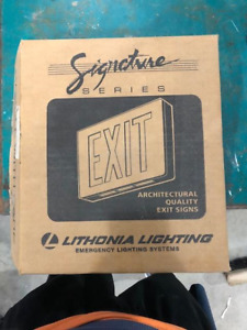 Signature Series Architectural Quality Exit Signs Lithonia Lighting Led New