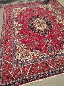 Persian Rug Semi Antique Red 11 4 Square Wool