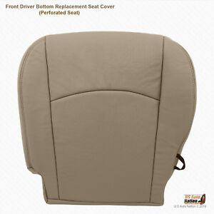 2010 Dodge Ram 3500 Laramie Megacab driver Side Bottom Leather Seat Cover Tan