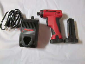 Snap on 9 6v 1 4 Cordless Screwdriver Cts596 W charger 2 batteries