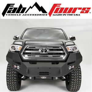 Fab Fours Base Premium Hd Front Winch Bumper For 2016 2019 Toyota Tacoma