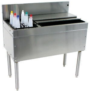 Glastender Cba 30l Cocktail Unit Combo Ice Bin 30 With Left Bottle Well