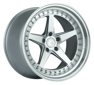 Aodhan Ds05 19x9 5 15 19x11 22 5x114 3 Silver Rims Aggressive G35 Coupe 370z