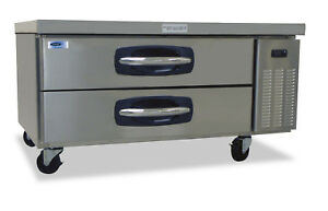 Norlake Nlcb48 Advantedge Commercial Two Drawer Refrigerated Chef Base