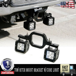 Trailer Tow Hitch Receiver Mount Bracket W Led Light Bar Reverse Offroad Truck