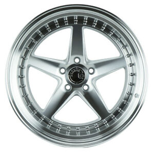 Aodhan Ds05 19x11 22 5x114 3 Silver Rims Aggressive G35 Coupe 370z G37
