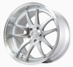 Aodhan Ds02 19x9 5 19x11 22 5x114 3 Silver Machined Staggered set Of 4