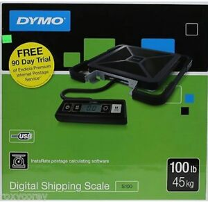 100 Lb Ups Shipping Scale Dymo By Pelouze S100 Portable Digital Usb New