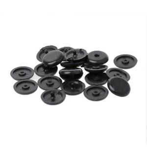 10 Pcs Black Seat Belt Buckle Holder Fasteners Clips Stop Button For Ford