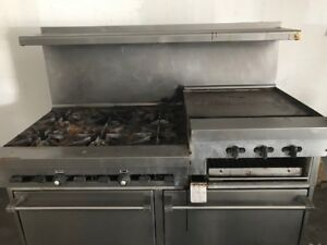 Sunfire commercial gas stove double oven combo
