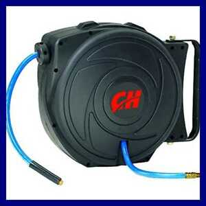 Air Hose Reel With Retractable 50 Foot Hose 3 8 Inch Id Mountable Swivel B