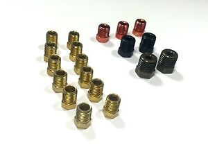 Sae Brake Line Fitting Kit For Inverted Flares On 3 16 Tube 19 Fittings