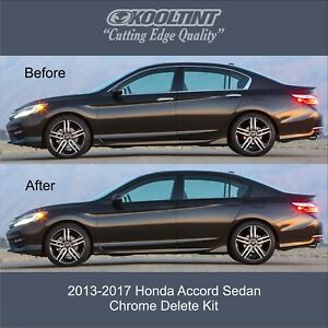 Chrome Delete Kit Fitting The 2013 2017 Honda Accord Sedan Window Trim