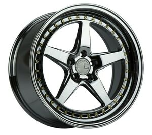 Aodhan Ds05 18x9 5 18x10 5 15 5x114 3 Black Chrome Vacuum Staggered set Of 4