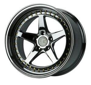Aodhan Ds05 18x10 5 22 5x114 3 Black Chrome Fits Rx7 Rx8 300zx Mustang Stance
