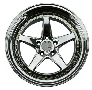 Aodhan Ds05 18x10 5 15 5x114 3 Black Chrome Fits Rx7 Rx8 300zx Mustang Stance