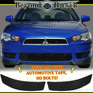 2008 2015 Mitsubishi Lancer Factory Style 2pc Front Bumper Body Kit Lip Chins