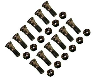 12 Plow Bolt And Nut For Blades Cutting Edges 1 8 X 3 Grade 8 Dome Head