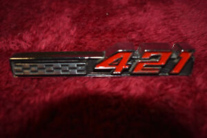 66 Pontiac Factory Oe 421 Emblem Console Or Radiator Not A Repro Xb