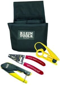 Klein Tool Coax Installer Starter Kit F connectors Cable Crimper Stripper Cutter