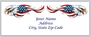 Personalized Address Labels Us Flag Eagles Buy 3 Get 1 Free usf1