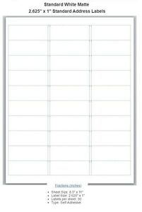 Blank Address Labels Choose From Different Sizes buy 3 Get 1 Free bl2